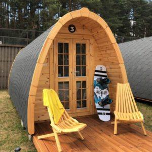Saurida nameliai camping pods