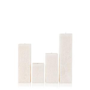 Rankų darbo žvakė vanilė kvadratinė