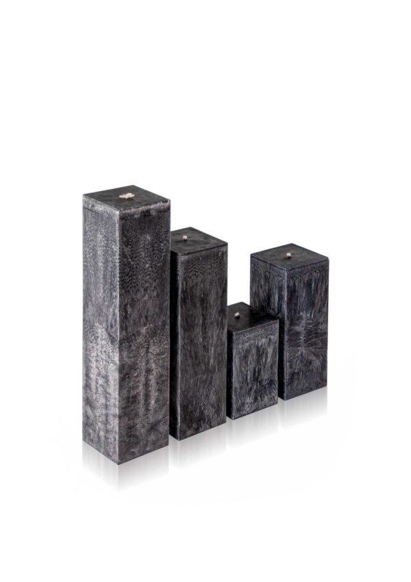 Rankų darbo žvakė kvadratinė
