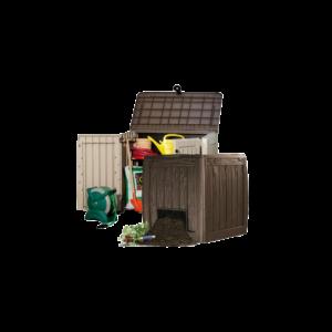 Komposto ir sodo įrankių dėžės